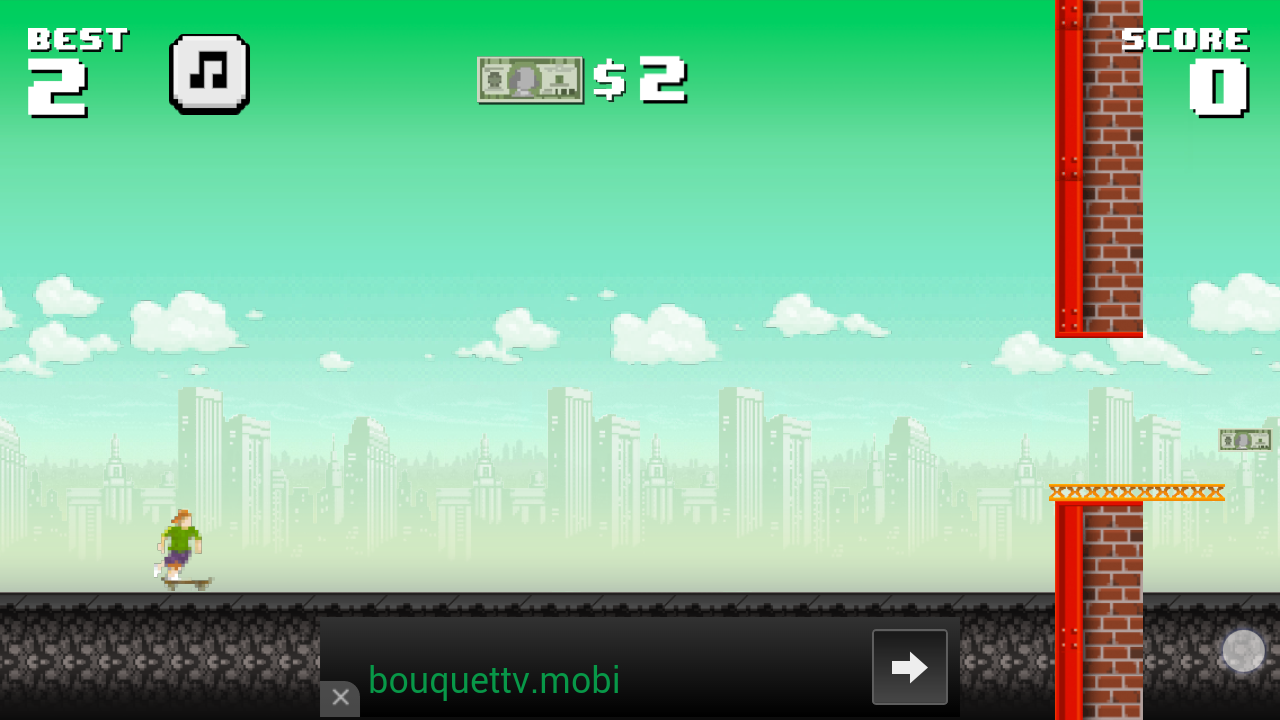 Ollie begin of the game screenshot: instructions no longer visible when needed.